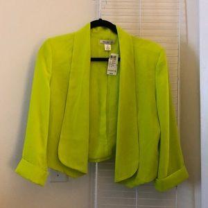 Lime green/yellow blazer